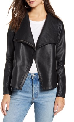 BB Dakota Up to Speed Faux Leather Moto Jacket