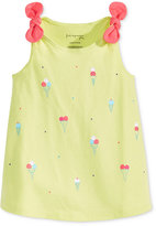 First Impressions Ice Cream-Print Knot-Strap Cotton Tunic, Baby Girls (0-24 months), Only at Macy's