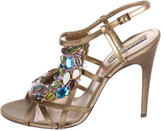 Andrew Gn Embellished Leather Sandals