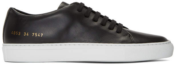 Common Projects Woman By Woman by Black and White New Court Low Sneakers