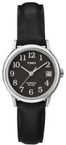 Timex Women's Easy Reader® Watch with Leather Strap - Silver/Black T2N525JT