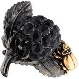 Roberto Cavalli Crystal Beetle & Berry Cocktail Ring