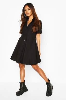 boohoo Short Sleeve Skater Shirt Dress