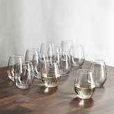 Crate & Barrel Set of 12 Stemless Wine Glasses 11.75 oz.