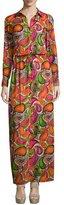 Trina Turk Long-Sleeve Printed Maxi Dress, Multi Colors