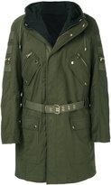 Balmain hooded cargo coat
