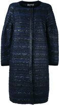 Alberta Ferretti tweed coat - women - Silk/Acrylic/Nylon/other fibers - 42