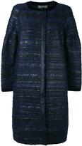Alberta Ferretti tweed coat - women - Silk/Acrylic/Nylon/other fibers - 46