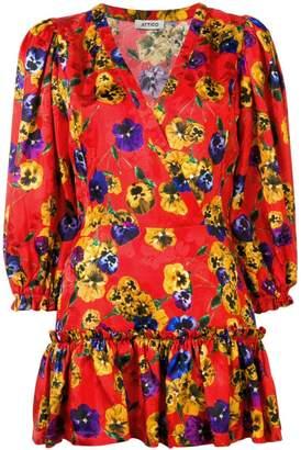 ATTICO The ruffled floral print dress
