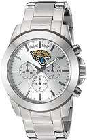 Game Time Women's 'Knock-Out' Quartz Stainless Steel Quartz Analog Watch, Color:Silver-Toned (Model: NFL-TBY-JAC)