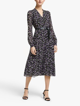 Michael Kors MICHAEL Floral Print Shirt Dress, Multi