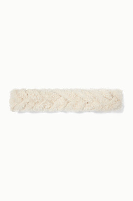 Yves Salomon Braided Shearling Headband