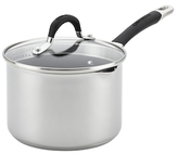Circulon 3QT. Momentum Stainless Steel Covered Straining Saucepan