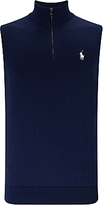 Polo Golf By Ralph Lauren Sleeveless Zip Neck Vest, French Navy