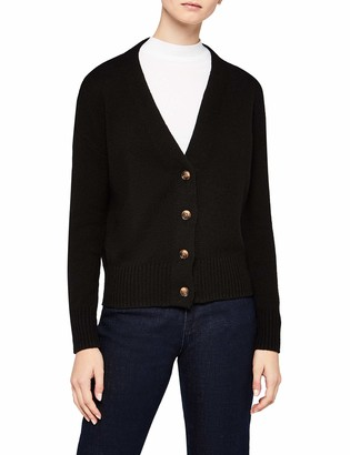 Meraki Women's Boxy V-Neck Cardigan Sweater