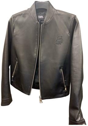 Karl Lagerfeld Paris Black Leather Jackets