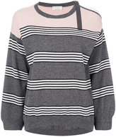 Brunello Cucinelli striped pullover - women - Silk/Cashmere - S