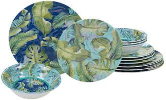 Certified International Tropicana Melamine 12 Piece Dinnerware Set