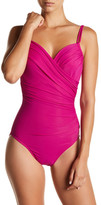 Miraclesuit Miracle Suit Solid Ruched One-Piece Swimsuit