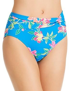 Tommy Bahama Sun Lilies Printed Tie-Waist Bikini Bottom