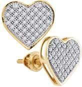 DazzlingRock Collection 1/4 Total Carat Weight DIAMOND HEART EARRINGS