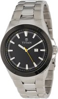 Titan Men's 9381KM04 Octane Fueled Stainless Steel Date Function and Luminous Hands and Markers Watch
