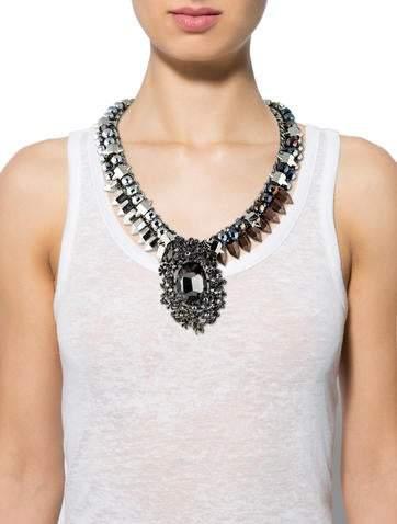 Assad Mounser Crystal Pendant Necklace