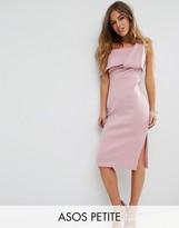 Asos One Shoulder Fold Scuba Pencil Dress