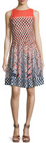 Nic+Zoe Fiore Sleeveless Printed Twirl Dress, Multi, Petite