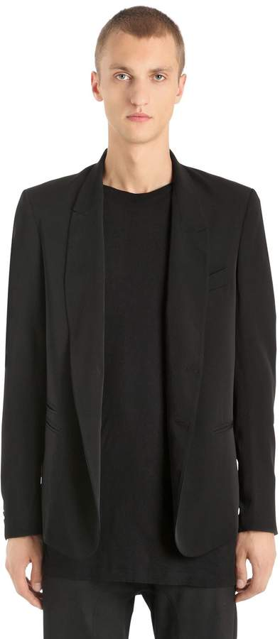 Isabel Benenato Tailored Cool Wool Jacket