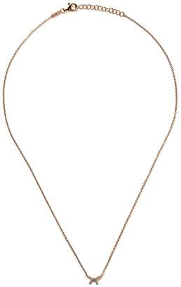 As 29 AS29 18kt rose gold Mini Charm Bow diamond necklace