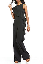 Gianni Bini Sadie Asymmetric Sleeveless Ruffled Jumpsuit