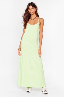 Nasty Gal Womens Take Your Time Relaxed Maxi Dress - Black - 6, Black