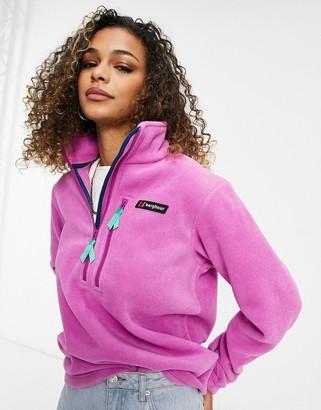 Berghaus Prism Heritage half zip fleece in purple