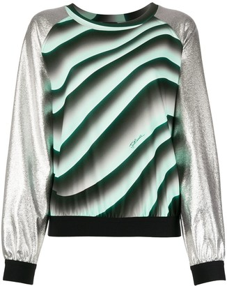 Just Cavalli Contrast-Panel Knit Jumper