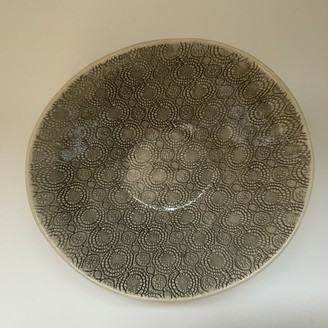 Wonki Ware - Serving Bowl in Charcoal Organic Mixed Patterns - charcoal - Charcoal