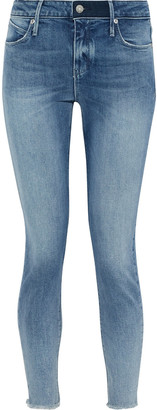 RtA Frayed Mid-rise Skinny Jeans