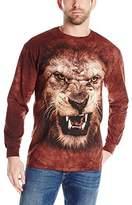The Mountain Big Face Roaring Lion USA Long Sleeve T-Shirt