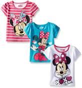 Disney Little Girls' 3 Pack Minnie Tees