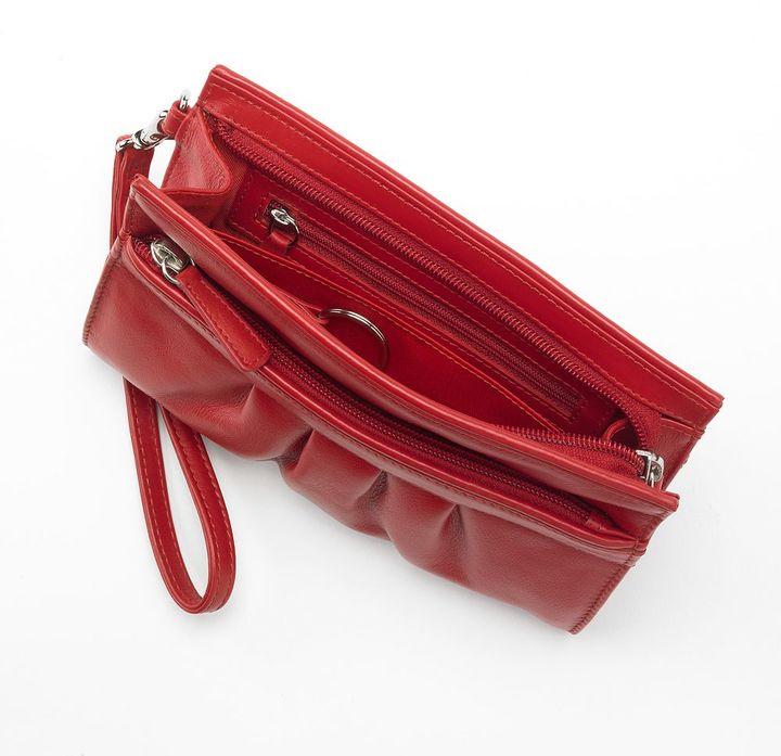 Ili Leather Wristlet