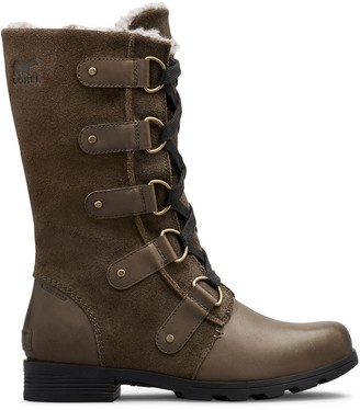 Sorel Emelie Faux Fur-Lined Suede & Leather Tall Boots