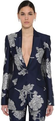 Alexander McQueen Long Brocade Blazer Jacket