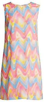 M Missoni Women's Chevron Print Shift Dress