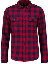 Ltb Apeda Shirt Red Navy Checked