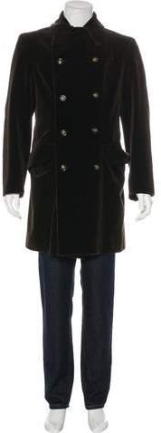 Giorgio Armani Velvet Double-Breasted Coat
