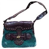 Gucci Turquoise Velvet Handbag