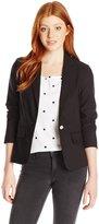 XOXO Women's 3/4 Sleeve Single Button Suiting Blazer Jacket