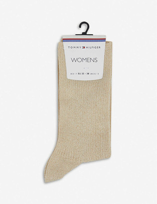 Tommy Hilfiger Glitter cotton-blend socks