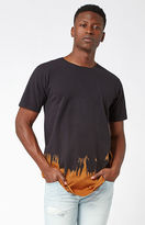 On The Byas Bleached Black Extended Length T-Shirt