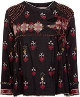 Ulla Johnson Black Embroidered Afghani Malia Jacket